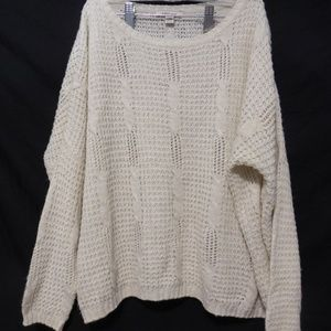 Cozy Casual knit beige sweater size s/m loose fit